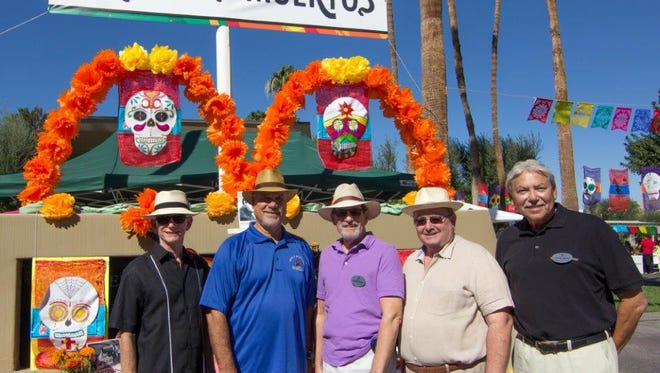 Cathedral City Manager Charlie McClendon, mayor Stan Henry, and Councilmen Shelley Kaplan, Greg Pettis, John Aguilar.