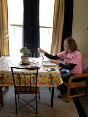 Karen Marx at her home on October 27, 2014 in New London, Wis. Karen's husband Adam Marx has been charged with bigamy in Vernon County. Wm. Glasheen/Post-Crescent Media