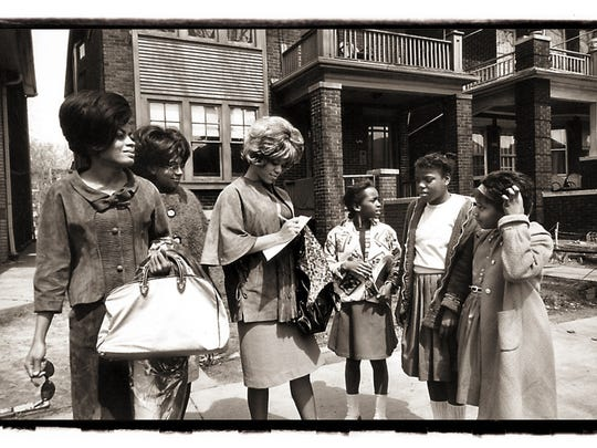 The Supremes outside the Hitsville complex on West Grand Boulevard