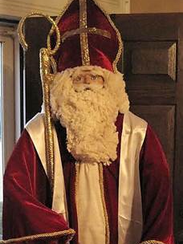 A custom made Saint Nicholas with a cotton beard and