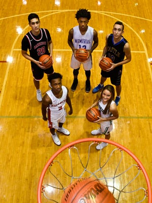 Front: Mekhi Lairy, Bosse and Anna Newman of North. Back, from left: Robin Duncan of Harrison, Dylan Penn of Memorial and Alex Hemenway of Castle.