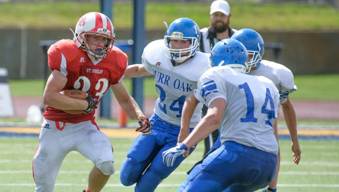 St. Philip running back Chris Kubasiak was the team's leading rusher last season.