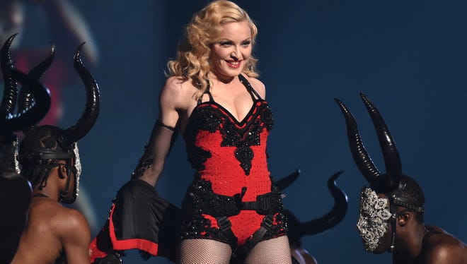 Madonna performs at the 57th annual Grammy Awards in Los Angeles on Feb. 8, 2015.