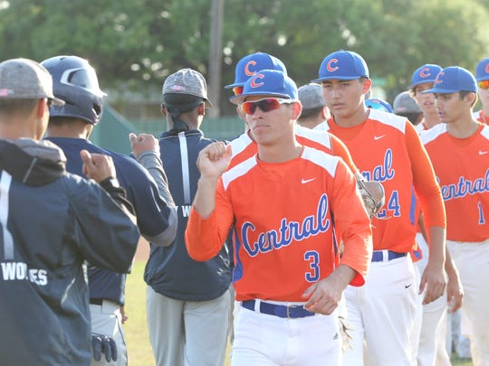 The San Angelo Central baseball team completed a two-game sweep against Fort Worth Richland on Friday.