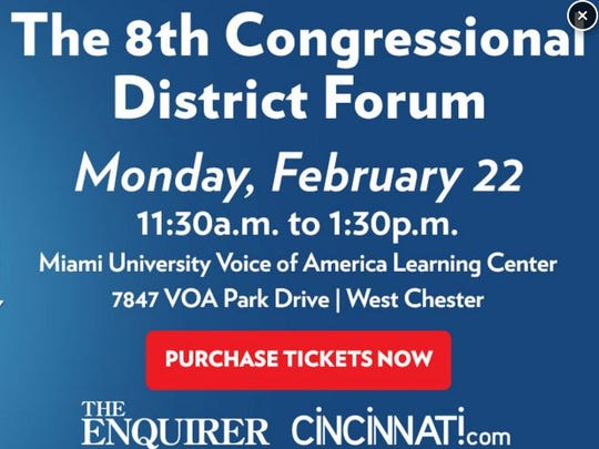 The Enquirer is moderating a candidate forum for the 8th District race.