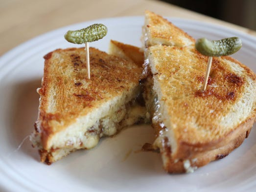 A bacon and blue toastie from The Cheese Shop on Thursday,