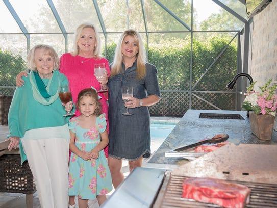 Louise Clark, Lynn Woodruff, Rachel Jones and Harper