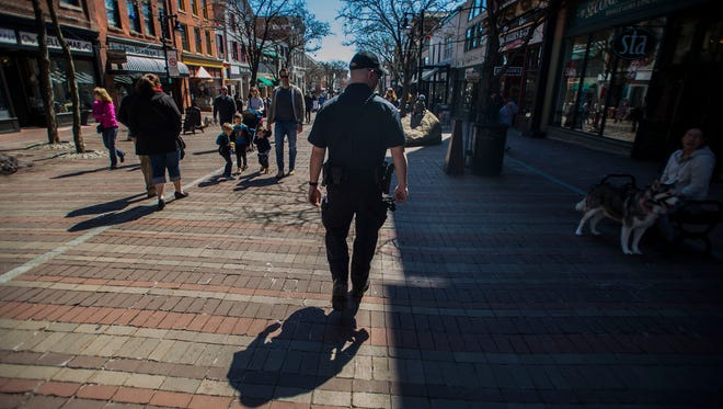 Burlington police regularly patrol Church Street on foot, something Chief Brandon del Pozo instituted back in 2016 with the planned increase to start on April 2 this year, the Sunday after a fatal knife attack.