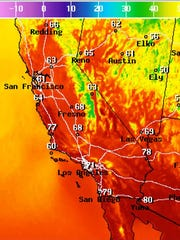 Temperatures at 7 p.m. ET, 4 p.m. PT, across the Southwest