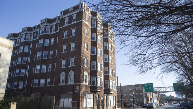 The Raleigh, a historic apartment building in Indianapolis, Tuesday, December 27, 2016.
