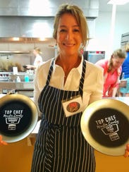 Local artist Tina Kraft won best dish and Top Chef