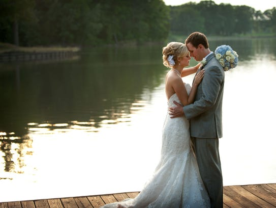 Haley and David Duddleston got married at Providence