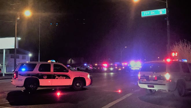 Phoenix police were at the scene of a triple shooting on Wednesday night.