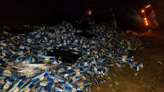 A South Carolina man driving a tractor-trailer full of beer crashed March 7, 2018, on Interstate 10 northeast of Pensacola, Fla.