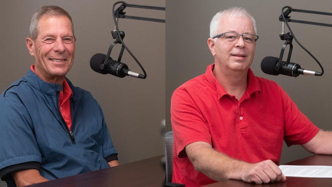 """Jim Gartner, left, and Jeff Coen each sat down with The Topeka Capital-Journal this month to discuss their stances on a number of issues. Those conversations can be found by searching """"From The Newsroom: The Topeka Capital-Journal"""" wherever you listen to podcasts."""