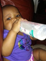 Family photo of Jada Taylor. The 10-month-old died Thursday night after her mother accidentally ran her over on Westmoreland in Detroit.
