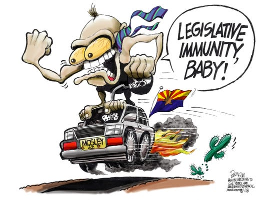 Arizona Rep. Paul Mosley, legislative immunity speed demon