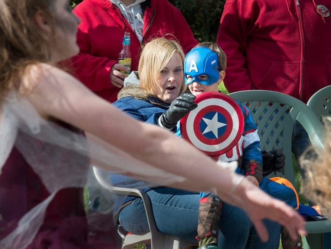 Erica Waggner holds her nephew Zach Waggner, age 4,