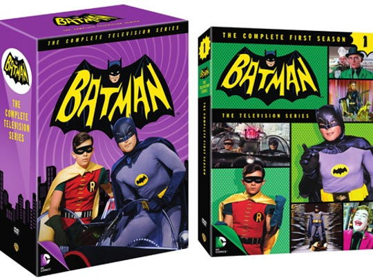'Batman: The Complete Television Series' (left) and 'Batman: The Complete First Season' DVD box sets