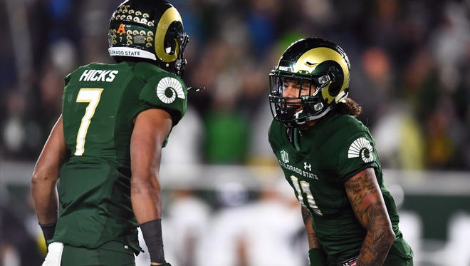 Jamal Hicks, left, and Jordan Fogal are two key pieces returning in CSU's secondary for the 2018 season.