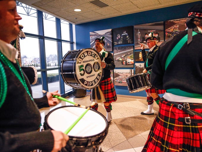 The Indianapolis 500 Gordon Pipers made a St. Patrick's