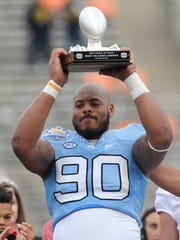 North Carolina's Nazair Jones was named most valuable lineman.