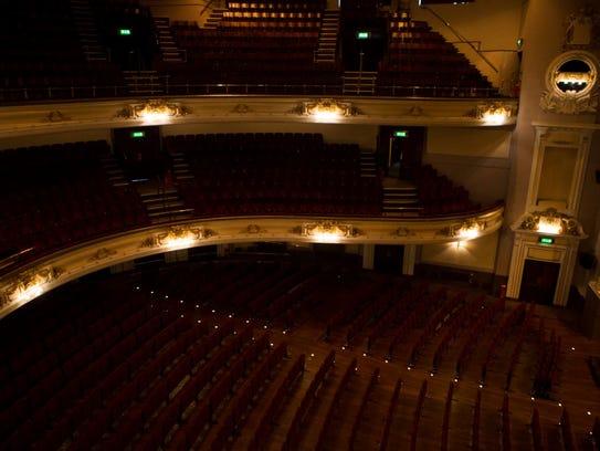 A view of Usher Hall in Edinburgh, Scotland, where