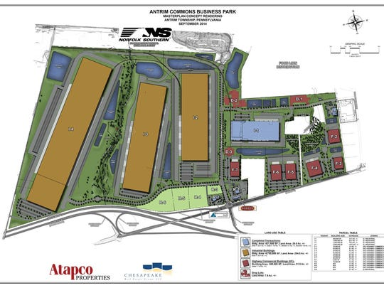 Developers have big plans for Antrim Commons Business Park, located at Interstate 81 Exit 3 in Antrim Township.