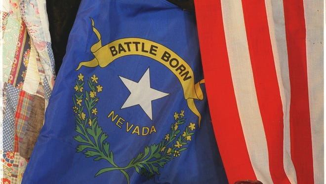 Photo illustration with Nevada flag.