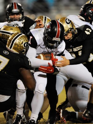 Greer's defense swarms Blue Ridge's Vonta Jenkins (1).
