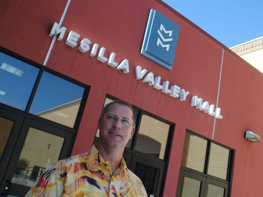 Russell Allen, vice president for Allen Theatres, is seen at an entrance to the Mesilla Valley Mall. Cineport 10 is connected to the mall, where Allen has memories dating to his teenage years.