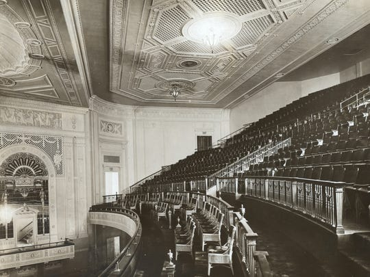This August 1916 photo shows the original interior