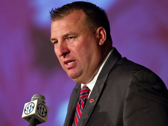 Bret Bielema SEC Media Days 2