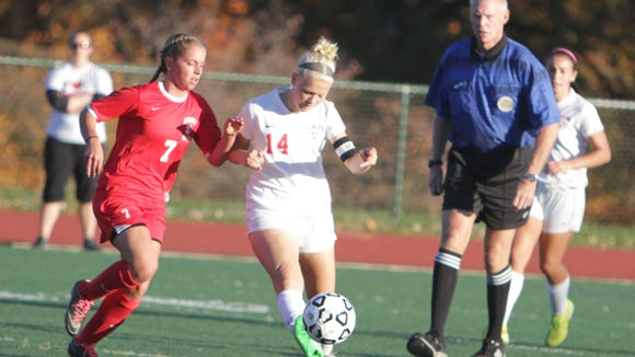 Goshen defeated Somers in penalty kicks in the New York State Class B sub-regional game at Tappan Zee High School on Tuesday, November 3rd, 2015.