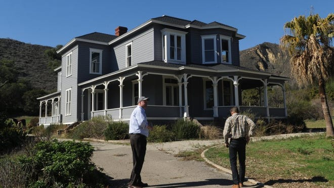 Developers look over the Hardison House property in Santa Paula.