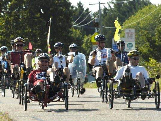 Recumbent bicycles rule at rally