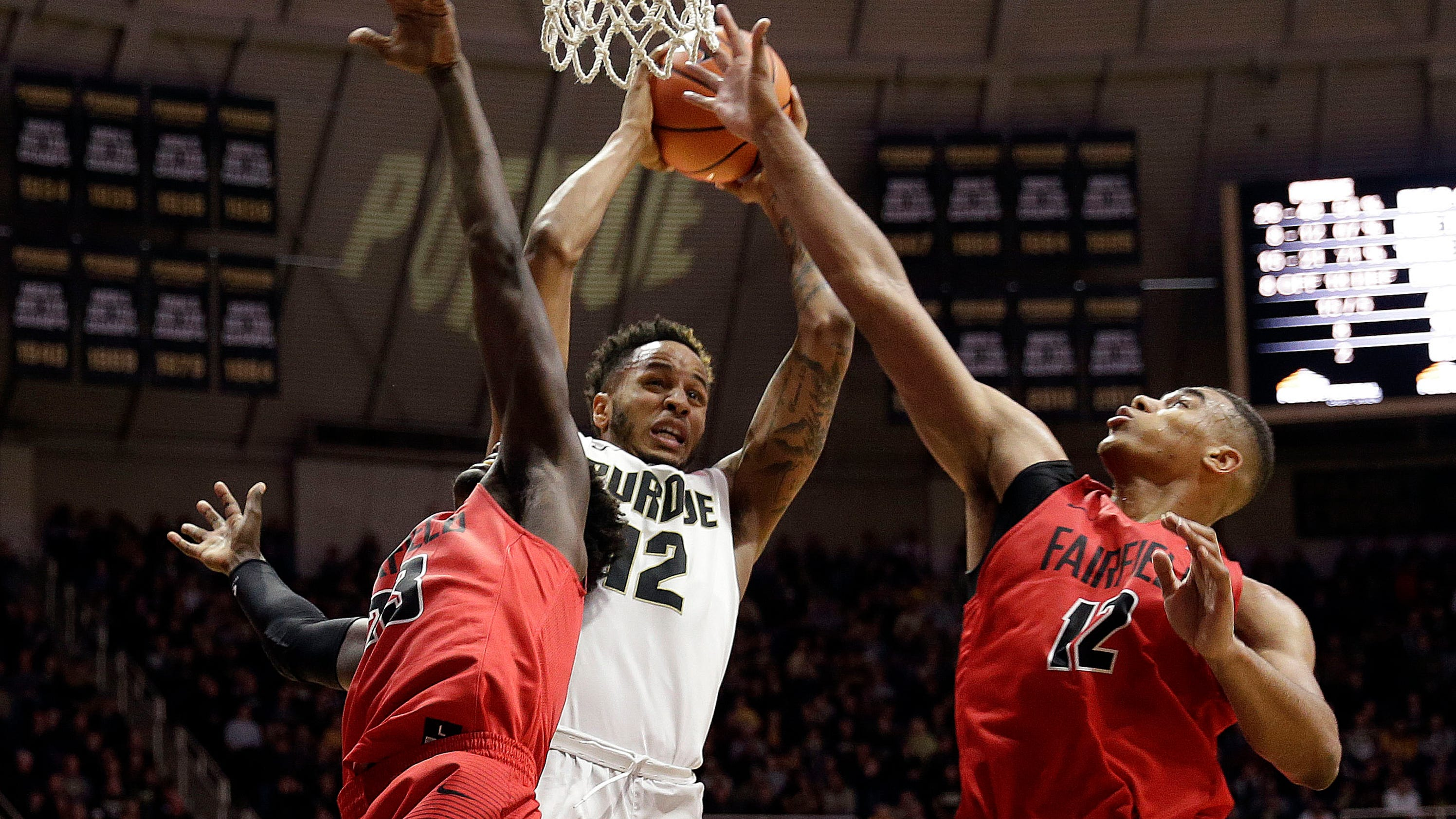 Edwards' basketball background helps Purdue with versatility