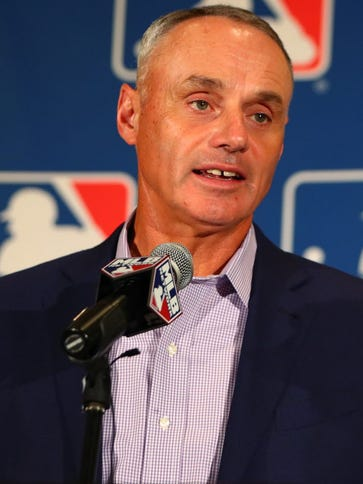 Major League Baseball commissioner Rob Manfred during