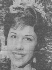 A 1963 photograph of when Elta Joyce Murphey McAfee was crowned Queen of Heart.
