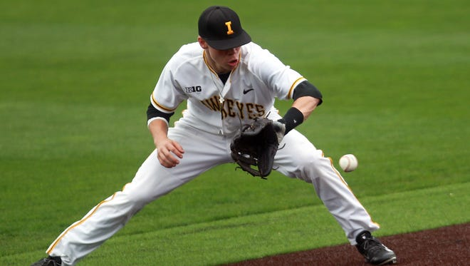 Jake Yacinich, seen here with Iowa, will begin the season with the Class A Burlington Bees.