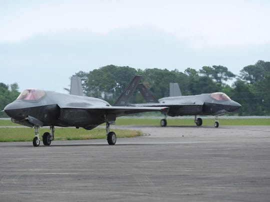 F-35s arrive at Wallops Flight Facility. The runways