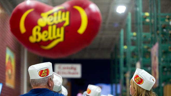 The Jelly Belly Visitor Center lets people go on a free tour of the warehouse.
