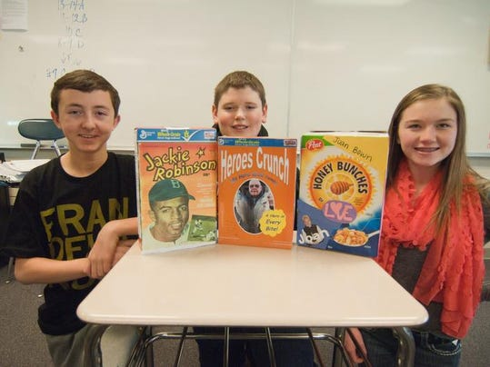 Heroes Featured On Eighth Grade Cereal Boxes