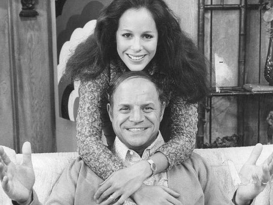 Publicity still of Louise Sorel and Don Rickles from the CBS Don Rickles Show.