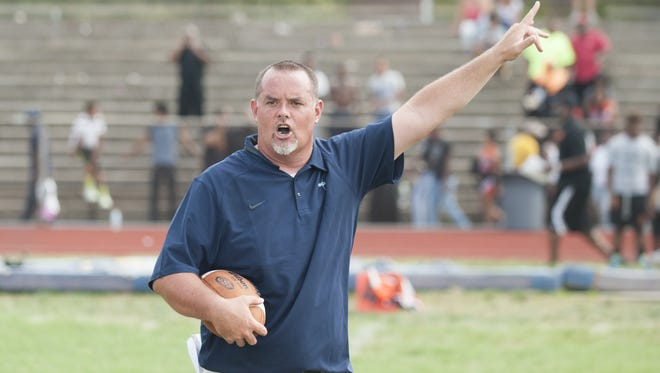 Highland coach Brian Leary, shown here before the season opener against Woodrow Wilson, is the uncle of Timber Creek star QB Devin Leary. With wins this Friday, the two could face off in the South Jersey Group 4 final.
