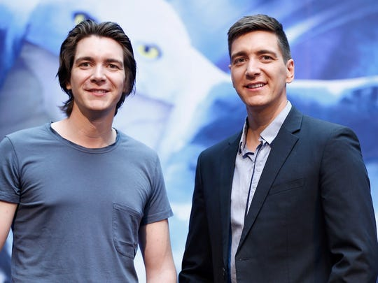 James Phelps (left) and Oliver Phelps will greet fans