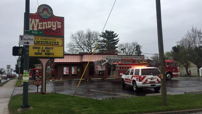 Fire fighters were called to the Wendy's restaurant Monday evening, April 23, 2018, on East Main Street in Lancaster. LFD Capt. Larry Moore said employees of the restaurant reported a grill fire and attempted to put the fire out using fire extinguishers. He said fire fighters from the first engine on the scene put the fire out using water from a hose. Moore said crews were checking to make sure the fire hadn't spread, and that the restaurant would be closed for at least the rest of the night.