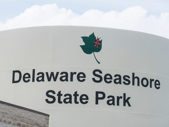 Delaware Seashore State Park by the Indian River Inlet.