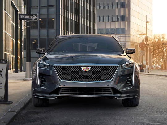 The 2019 Cadillac CT6 V-Sport with a 550-horsepower