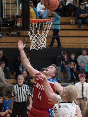 Zane Trace's Isaac Beam attempts to score in a game at Paint Valley back on Dec. 9, 2016. Beam's Pioneers have a big week ahead of them with a trip to Unioto scheduled for Jan. 13.